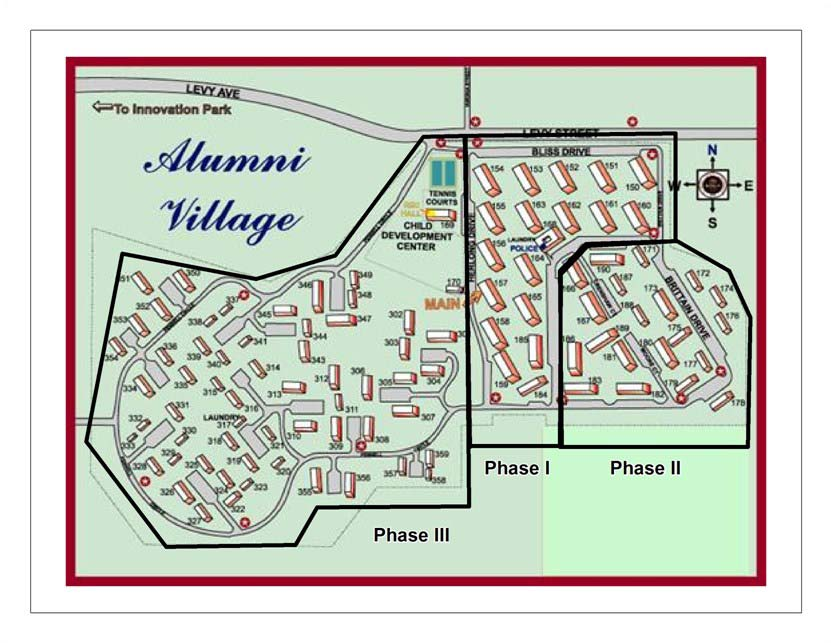 Alumni Village: Existing Map